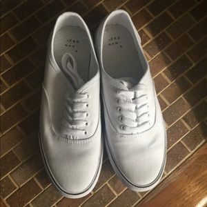 a new day white sneakers